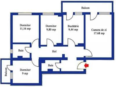 NOVISIMO-IMOBILIARE:  APARTAMENT CU 4 CAMERE IN ZONA MARASESTI